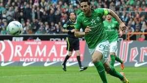 El primer gol de Claudio Pizarro en Alemania lo hizo con la camiseta del Werder Bremen Video: