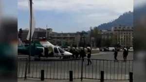 Así fue el rescate de Carabinero accidentado en Plaza Italia Video: