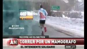 Intendente solidario: correrá 440 km por un mamógrafo Video: