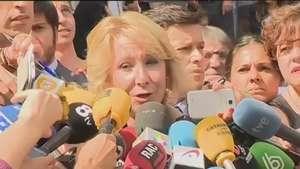 Esperanza Aguirre, satisfecha tras declarar Video: