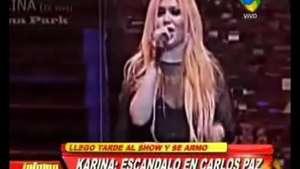 Escándalo con Karina la Princesita en Carlos Paz Video: