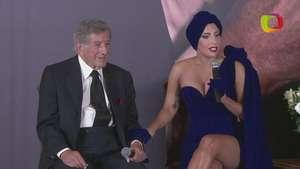 """Lady Gaga y Tony Bennett presentan su álbum """"Cheek to cheek"""" Video:"""