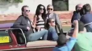 Así fue la boda de Clooney y Amal Alamuddin Video: