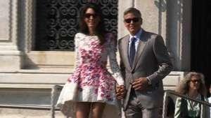 Primer día de casados de Clooney y Alamuddin Video: