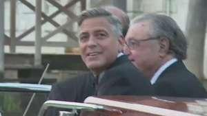 """Clooney y Alamuddin se dan el """"sí quiero"""" Video:"""