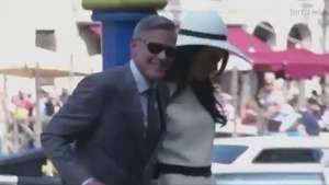La boda civil de Clooney y Amal Video: