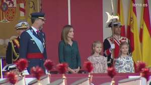 Felipe y Letizia, reyes y padres en el Día de la Hispanidad Video: