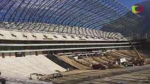 Avanza en un 80 por ciento el nuevo Estadio de Rayados Video:
