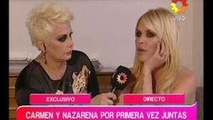 Nazarena junto a Carmen: