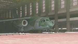 Un avión tipo Hércules hecho en Brasil Video: