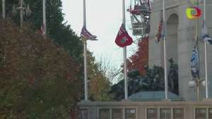 Realizan homenaje al soldado abatido en tiroteo en Canadá Video: