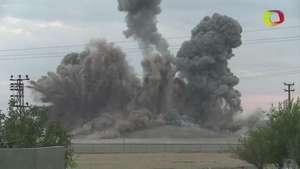 Así se ven los ataques aéreos de la Coalición Internacional en Siria Video: