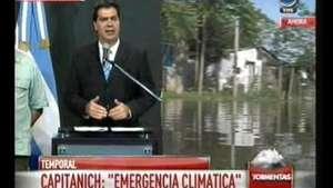 Emergencia climática: hay mil evacuados, informó Capitanich Video: