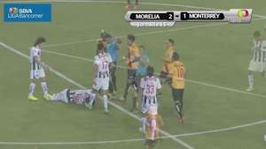 Jornada 15, Morelia 2-1 Monterrey, Apertura 2014 Video:
