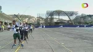 Sambódromo cambia samba por tiro con arco Video:
