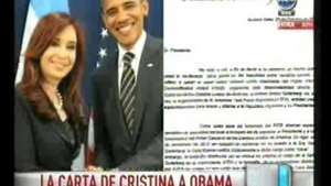 Fondos buitres: Cristina le envió carta a Obama Video: