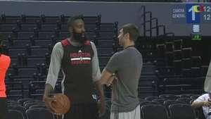 Estrellas de Rockets y Timberwolves entrenaron en México Video: