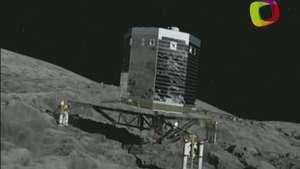 El robot a punto de pisar un cometa Video: