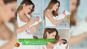 Ninel Conde amamantará a su bebé el mayor tiempo posible Video: