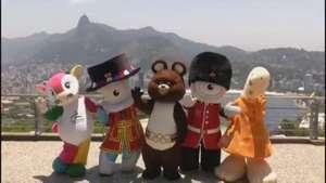 Mascotas olímpicas del pasado viajan a Brasil Video: