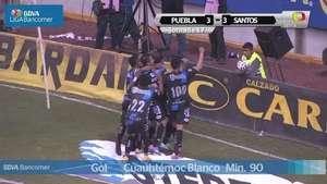 Jornada 17, Puebla 3-3 Santos, Apertura 2014  Video: