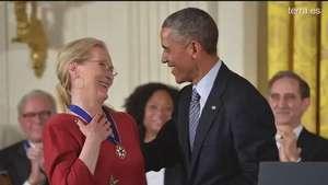 Meryl Streep, premiada por Obama Video: