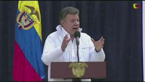 Santos ve madurez en proceso de paz en Colombia Video:
