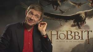 'The Hobbit:The Battle of the Five Armies': Martin Freeman juega con Bilbo Bolsón  Video: