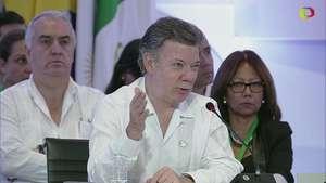 Santos espera final feliz con las FARC Video: