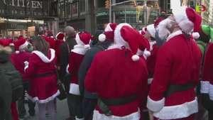 Encuentro de Papas Noel en NY Video: