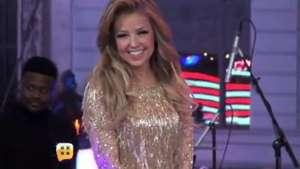 Thalía congelada frente a sus seguidores Video:
