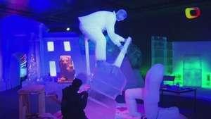 Celebran era del rock and  roll con esculturas de hielo Video: