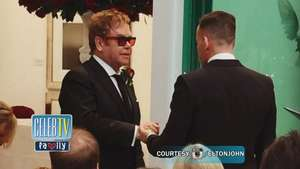 Elton John Ties The Knot! Video: