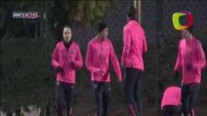 Messi y Neymar ya en el Barça Video: