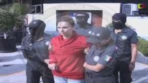 Traslado de María de los Ángeles Pineda a penal de Nayarit Video: