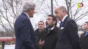 Kerry visita lugares de atentados en París Video: