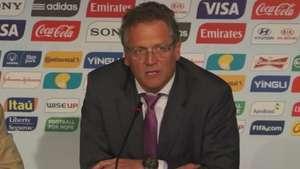 Valcke minimizó sus duras críticas hacia Brasil durante mundial Video: