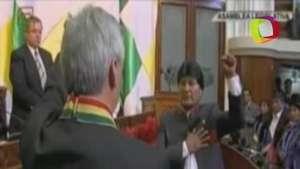 Así se vivió la toma de protesta de Evo Morales Video:
