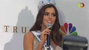 Paulina Vega, Miss Universo 2015, da su primer discurso Video: