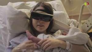 Madre ciega logra ver a su bebé Video: