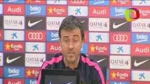 Luis Enrique cree que el Atlético jugará con intensidad Video: