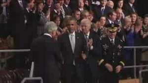 Obama despide con honores al secretario de defensa Chuck Hagel Video: