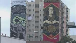 Málaga se engalana con arte callejero Video: