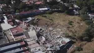 Imágenes áereas de rescate tras explosión en Cuajimalpa Video: