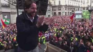 Miles de españoles acuden a la 'Marcha del Cambio' de Podemos Video: