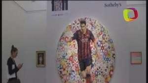 Dos retratos de Messi, estrellas de una subasta benéfica Video:
