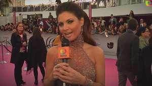 Chiquinquirá Delgado en la alfombra de Premio Lo Nuestro Video: