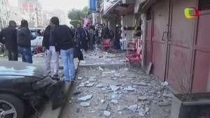 Un muerto en una ola de explosiones en El Cairo Video: