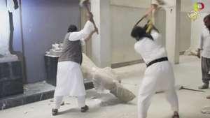 Yihadistas destruyen estatuas milenarias en Irak Video: