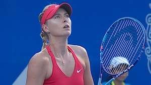 Sharapova enferma y se retira del Abierto Mexicano Video: